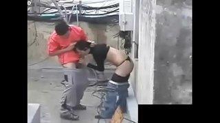 واحد وخطيبته فوق السطوح مصري مارس الجنس العربي على Wahmbahm.com